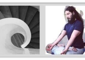 Homem meditando. A gratidão é cura.