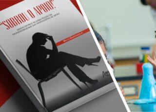 Educação Inclusiva, uma tendência ou uma pendência? Capa do livro Sobrou o apoio, do educador Márcio Boaventura. Ao lado aparece uma aluno preta e feliz, fazendo uma experiência no laboratório da escola.