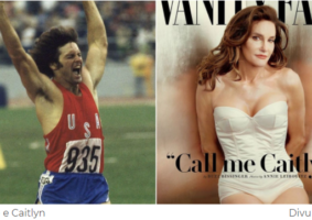Na foto sobre transicao-social-de-pessoas-diversas-e-diferentes temos a imagem do atleta Bruce e de Caitlyn Jenner mulher trans