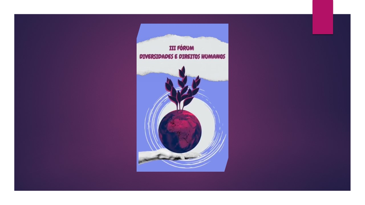 Ilustração de uma fruta vermelha amparada por uma mão e gerando mais brotos. Ilustra o III Fórum sobre Diversidades e Direitos Humanos